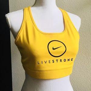 NIKE LIVESTRONG women's yellow sports bra tank XL